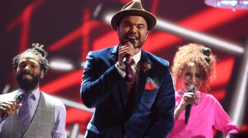 Guy Sebastian performs during Eurovision 2015. (PHOTO: Thomas Hanses www.eurovision.tv)