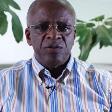 Amama_Mbazazi is a candidate for the 2016 Ugandan Presidency. He is the first one to ever publicly support gay rights. (Image source: YouTube)