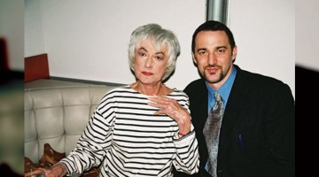 Actress Bea Arthur with Ali Forney Center Executive Director Carl Siciliano in 2005.