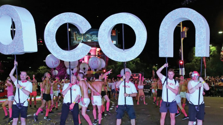 ACON at the 2015 Sydney Gay and Lesbian Mardi Gras Parade (PHOTO: Ann-Marie Calilhanna; Star Observer)