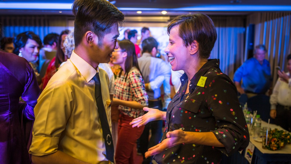 Labor's Jenny McAllister meeting LGBTI people in Ho Chi Minh City, Vietnam (Photo: supplied)