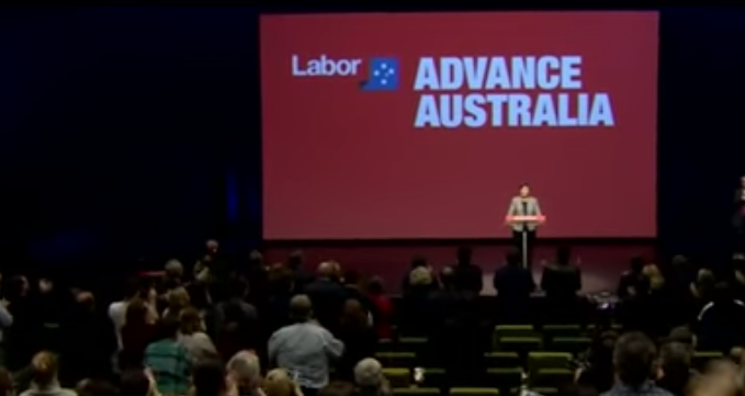 South Australian Labor Senator Penny Wong addresses the ALP delegation on the topic of marriage equality
