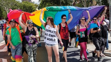 A snapshot of Brisbane Pride 2014 (PHOTO: Brendan Burke; Star Observer)