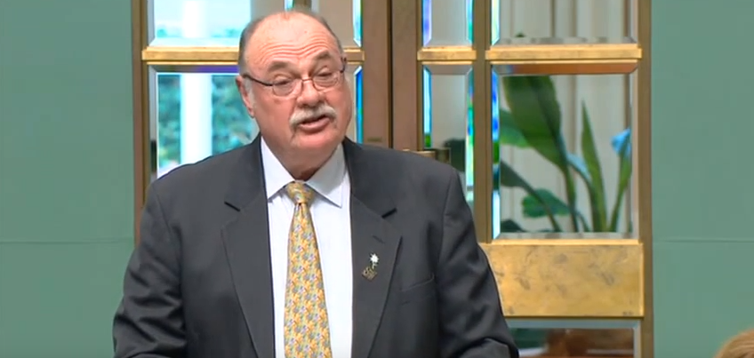 Leichhardt federal Coalition MP Warren Entsch introduces his cross-party marriage equality bill in the House of Representatives this morning.
