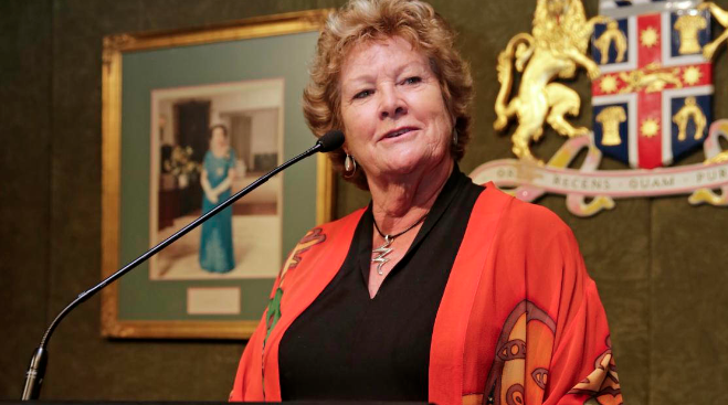 NSW Health Minister Jillian Skinner speaking at the 30th anniversary celebration of ACON. (PHOTO: Ann-Marie Calilhanna; Star Observer)