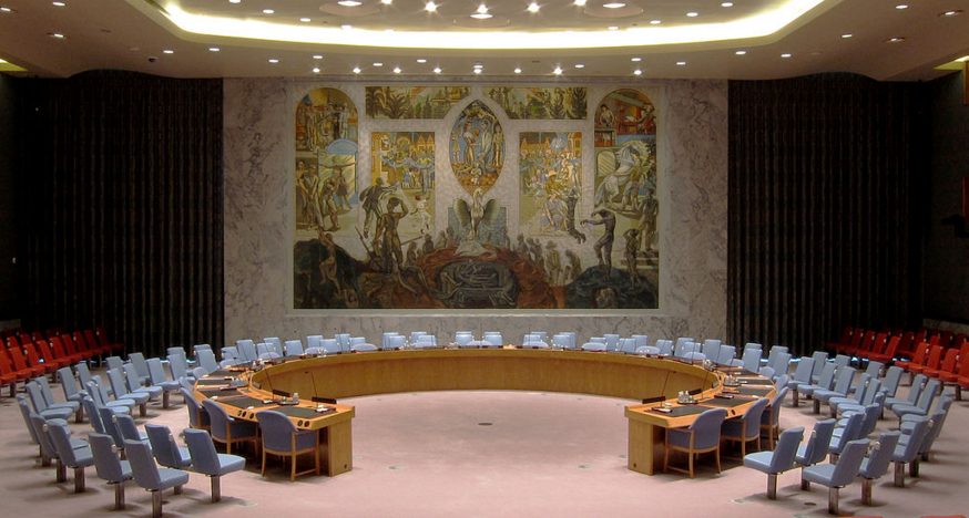 The UN Security Council chambers in New York City, US (Image source: Wikimedia Commons)