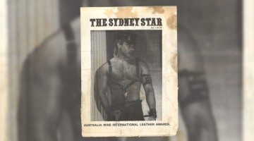 The Sydney Star (the former name of the Star Observer); vol.1, no.22 with the winner of the 1980 International Mr Leather Contest, Patrick Brookes, on the cover.
