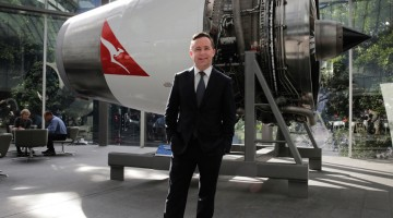 Alan Joyce at the Qantas headquarters in Sydney. (PHOTO: Ann-Marie Calilhanna; Star Observer)