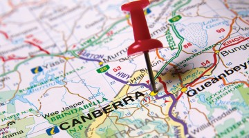 canberra ACT map