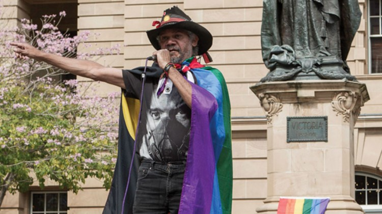 Brisbane is mourning the loss of Les West, one of the city's prominent LGBTI and Indigenous rights activists. (PHOTO: Brendan Burke; Star Observer)