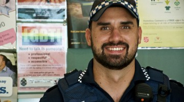 Senior Constable Ben Bjarnesen, one of the LGBTI liaison officers for the Fortitude Valley police precinct in Brisbane.