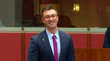 South Australian Greens Senator Robert Simms is the latest openly-gay federal parliamentarian.