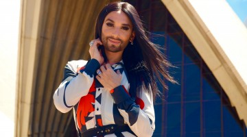 Conchita Wurst, who has been in Australia the past few days for Adelaides Feast Festival, will return to Australia once again early 2016 as part of the Sydney Gay and Lesbian Mardi Gras festival line-up.