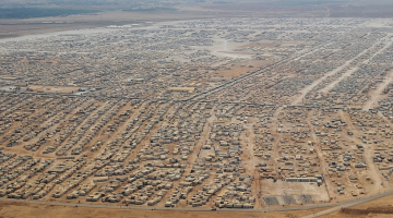 The Zaatari refugee camp in Jordan is home for 160,000 refugees who have escaped the Syrian civil war.