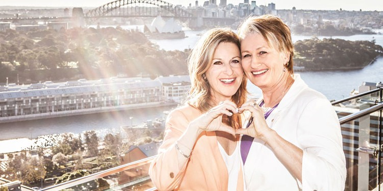 Jackie Stricker-Phelps and Kerryn Phelps (PHOTO: Frank Farrugia; Same Love Photography)