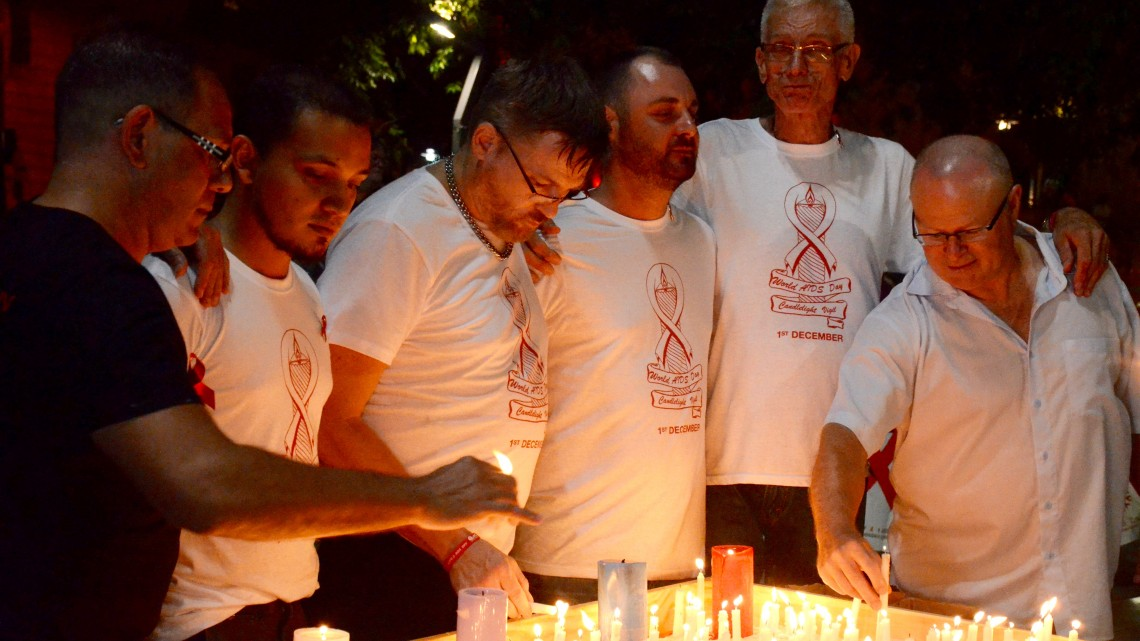 The 2015 World AIDS Day Vigil in Brisbane. (PHOTO: David Alexander; Star Observer)