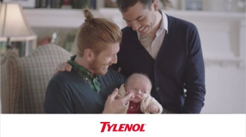 tylenol ad featuring gay dad and lesbian couple
