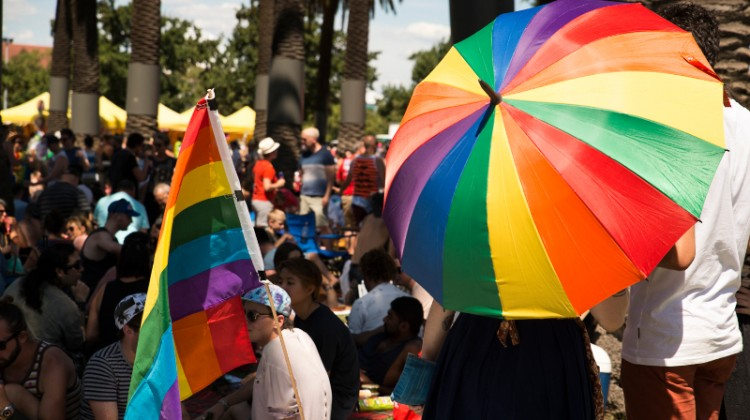 More than 100,000 people were estimated to have attended Midsumma Carnival throughout the day yesterday. (PHOTO: Burke Photography; Star Observer)