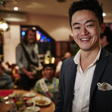 Benjamin Law on the set of the SBS TV show based on his memoir, The Family Law. (Supplied photo)