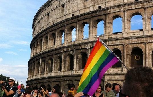 italy rome gay rainbow pride LGBT