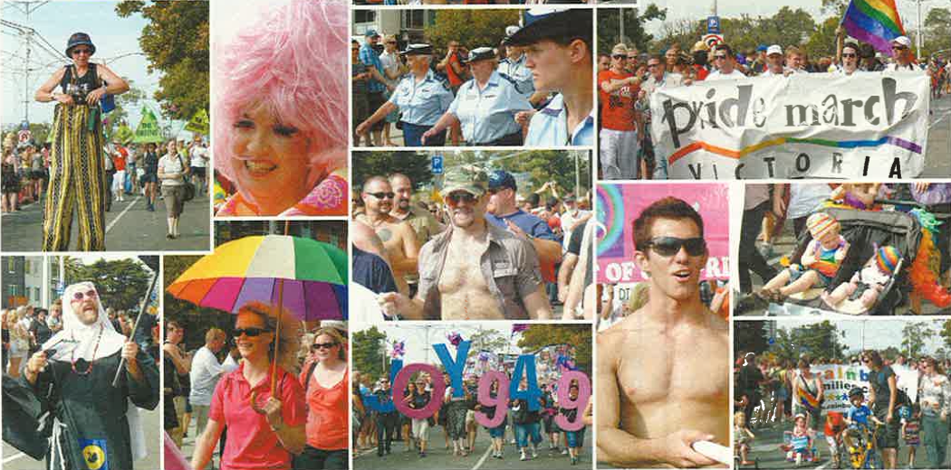 Pride March 2009 (Source: Southern Star; Star Observer archives)