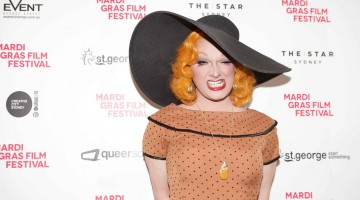 Jinkx Monsoon at the Mardi Gras Film Festival launch. Photo: Supplied