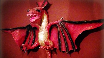 A dragon which will feature in the Gay.me of Thrones Mardi Gras float. Photo: Supplied
