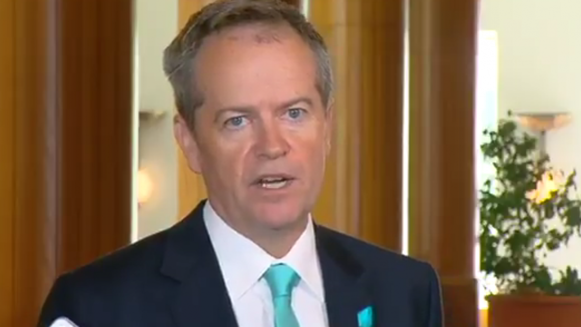 Bill Shorten (Image source: ABC 24)