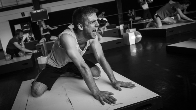 Sydney Dance Company Cacti rehearsals. Dancer Cass Mortimer Eipper. (Photo: Peter Grieg)