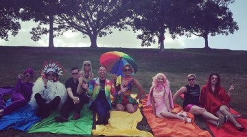 Participants at the NSW GLRL Rainbow Run. Photo: Twitter via @breko