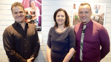 (L-R) Brisbane Powerhouse Artistic Director Kris Stewart, Queensland Premier Annastasia Palaszczuk and MELT director Adam Gardnir (photo: David Alexander; Star Observer)