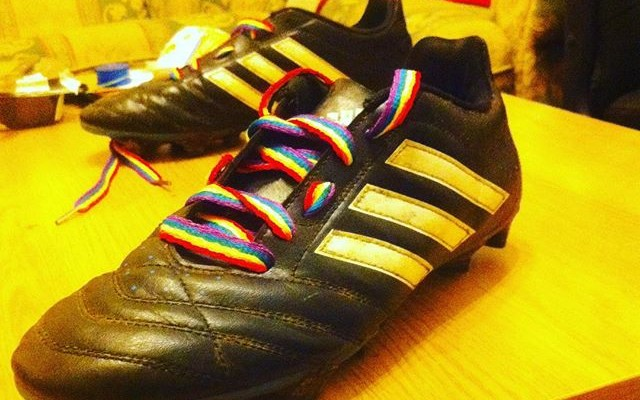 #RainbowLaces. Photo: Instagram via jogeshbowry
