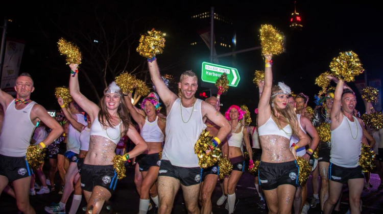 Dr Mark's Marching Academy in the 2015 Sydney Gay and Lesbian Mardi Gras Parade (Supplied photo)