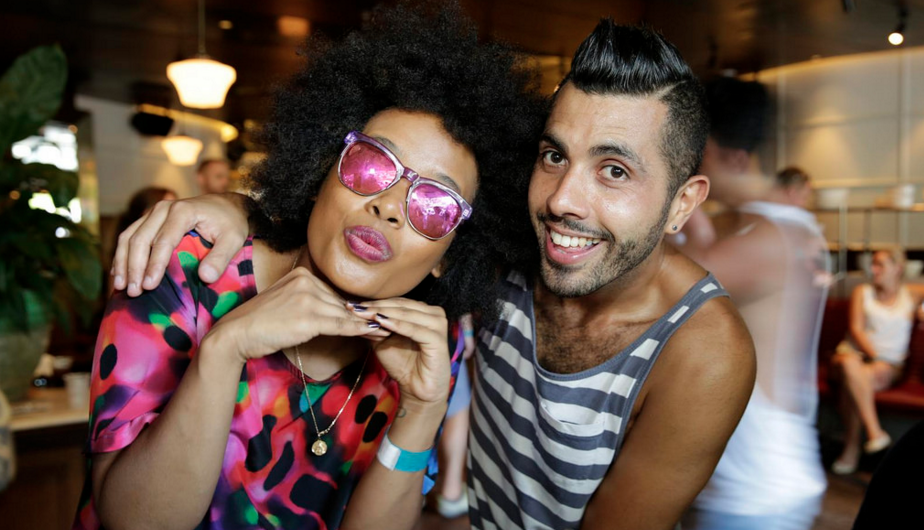 Faustina Agolley and Patrick Abboud at the 2016 Laneway party (PHOTO: Ann-Marie Calilhanna; Star Observer)