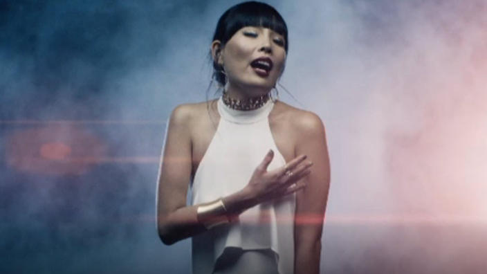 Dami Im in the video for Sound of Silence. Photo: SBS