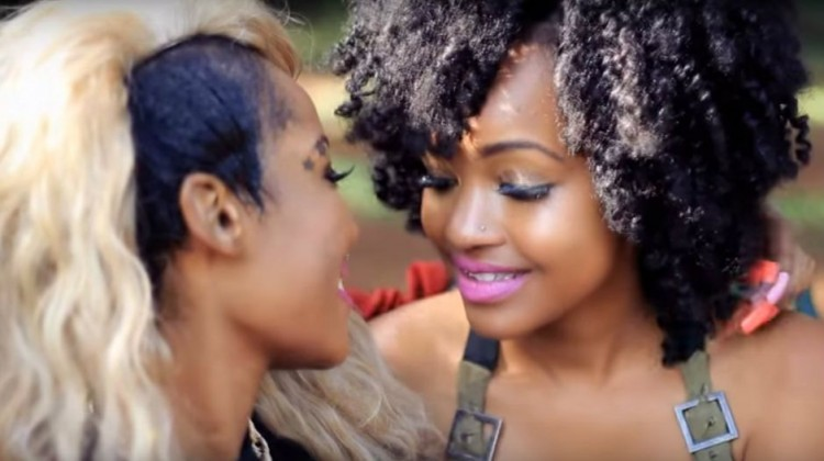 lesbians africa kenya black girls kiss romance relationship couple partners