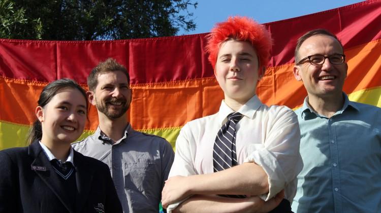 Melbourne Girls College Rainbow Flag