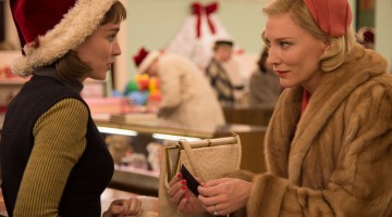 Cate Blanchett and Rooney Mara star in Carol.