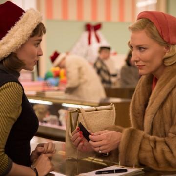 Cate Blanchett and Rooney Mara star in Carol.