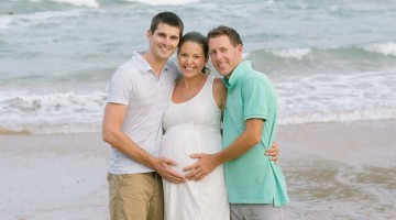 Jon and Justin with their surrogate Shannon.