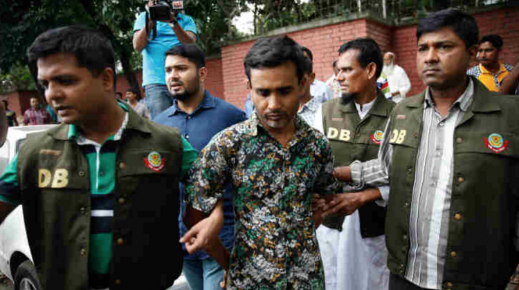 Shariful Islam Shihab was arrested for the alleged murder of two gay activists in Bangladesh. Photo: Twitter via @jrossingol
