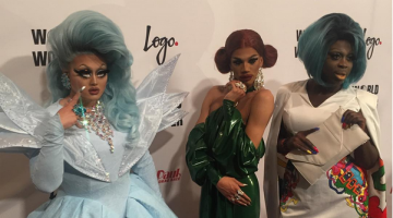 (L-R) Kim Chi, Naomi Smalls and Bob the Drag Queen on the red carpet before the season 8 finale of RuPaul's Drag Race. Photo: Instagram via @wowreport