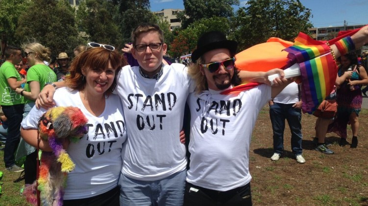 Roz Ward (centre). Photo: Safe Schools Coalition