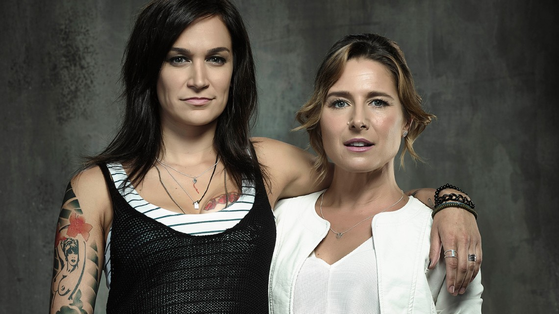 Wentworth's Franky (Nicole da Silva) and Bridget (Libby Tanner) have won hearts all over the world.