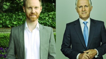 Dejay Toborek (left) will take on Prime Minister Malcolm Turnbull (right) for the seat of Wentworth in the upcoming Federal election.