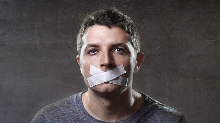 silenced, mouth shut