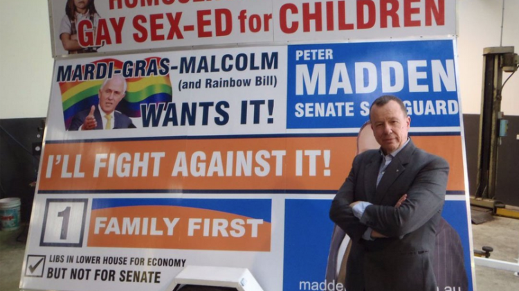 Peter Madden's campaign trailer. Photo: Twitter.
