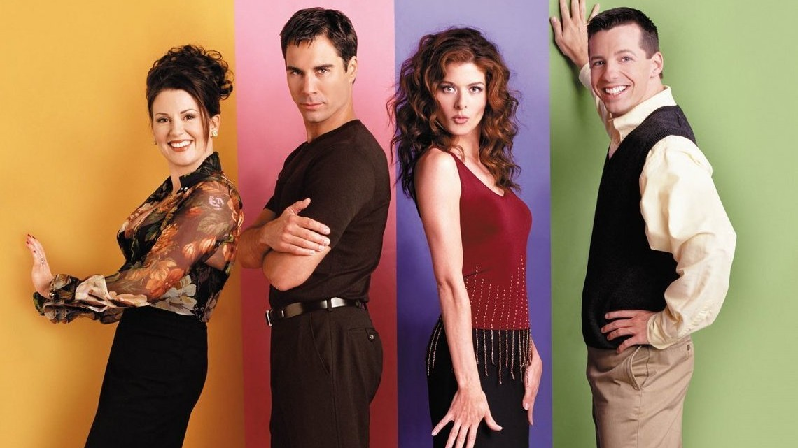 The cast of Will & Grace with Sean Hayes (right)