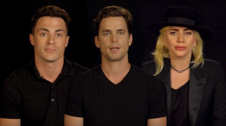 Colton Hayes, Matt Bomer and Lady Gaga are just some of the celebrities who took part in the heart touching tribute.