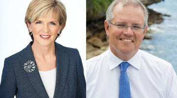 Julie Bishop and Scott Morrison were hesitant to reveal how they would vote.